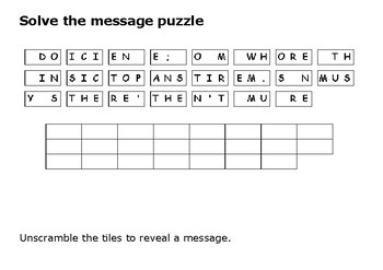 Solve the message puzzle from Louis Armstrong