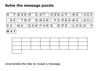 Solve the message puzzle from Mahatma Gandhi