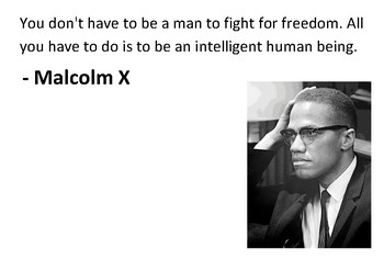 Solve the message puzzle from Malcolm X