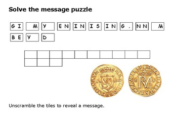Solve the message puzzle from Mary Queen of Scots