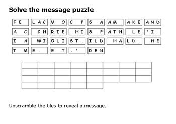 Solve the message puzzle from Maximilian Kolbe