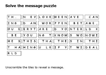 Solve the message puzzle from Michael Jackson