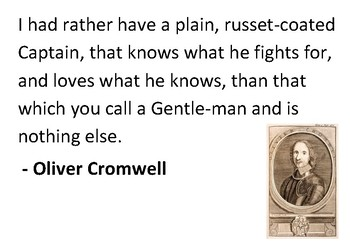 Solve the message puzzle from Oliver Cromwell