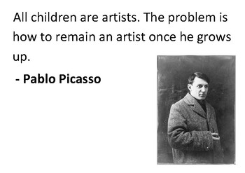 Solve the message puzzle from Pablo Picasso