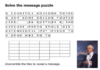 Solve the message puzzle from Pierre Charles L'Enfant