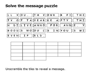 Solve the message puzzle from Red Cloud