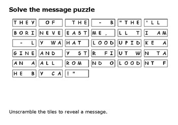 Solve the message puzzle from Reginald Walter Saunders