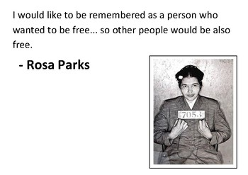 Solve the message puzzle from Rosa Parks