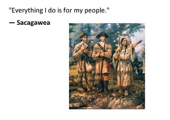 Solve the message puzzle from Sacagawea