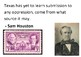 Solve the message puzzle from Sam Houston