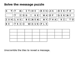 Solve the message puzzle from Sitting Bull