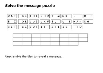 Solve the message puzzle from Sojourner Truth