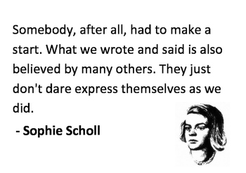 Solve the message puzzle from Sophie Scholl