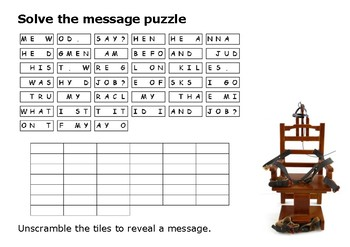 Solve the message puzzle from The Green Mile