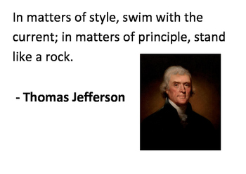 Solve the message puzzle from Thomas Jefferson