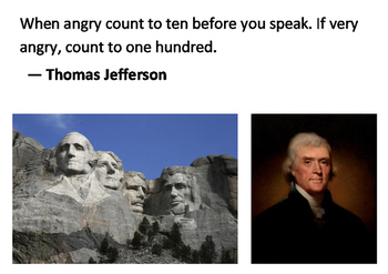 Solve the message puzzle from Thomas Jefferson - Anger