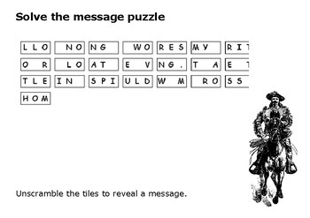 Solve the message puzzle from William F. Cody (Buffalo Bill)