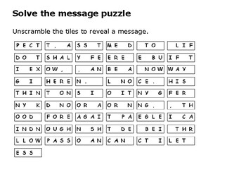 Solve the message puzzle from William Penn