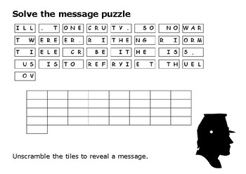 Solve the message puzzle from William Tecumseh Sherman (1820-1891)