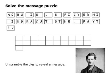 Solve the message puzzle from Wyatt Earp