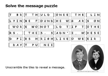 Solve the message puzzle from about the Wright Brothers