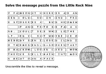 Solve the message puzzle from the Little Rock 9