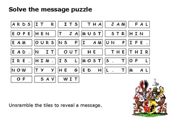 Solve the message puzzle from the Red Baron
