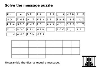Solve the message puzzle from the Shawshank Redemption