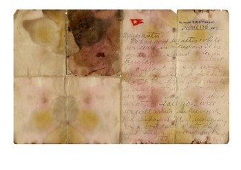 Solve the message puzzle from the Titanic letter
