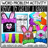 Word Problem Activity Solve to Create a Rabbit