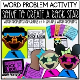 Word Problem Activity Solve to Create a Rock Star
