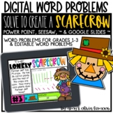 Digital Word Problem Activity: Solve to Create a Scarecrow