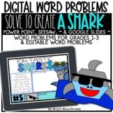 Digital Word Problem Activity: Solve to Create a Shark (SE
