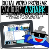 Solve to Create a Shark:  Digital Activity (SEESAW, GOOGLE