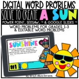 Digital Word Problem Activity: Solve to Create a Sun (SEES
