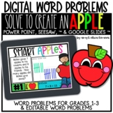 Digital Word Problem Activity: Solve to Create an Apple (S