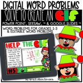 Digital Word Problem Activity: Solve to Create an Elf (SEE
