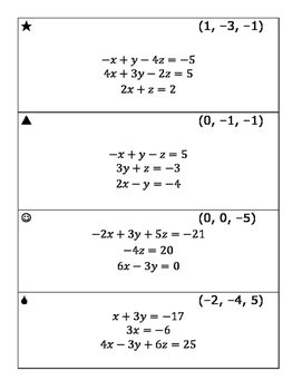 Solve with Matrices Scavenger Hunt