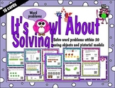 First grade solve word problems within 20 QR task cards -