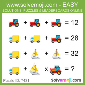 Solvemoji Emoji Classic Puzzles - 50 puzzles - 10 of each level - With Solutions