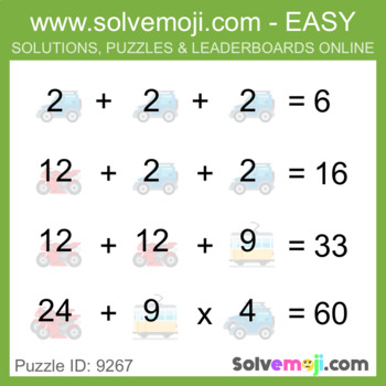 ** EASY ONLY ** - Solvemoji 50 Classic Emoji Puzzles - With Solutions