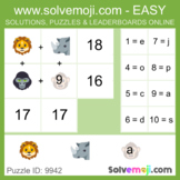 Solvemoji Emoji Word Puzzles - 50 puzzles - 10 of each lev