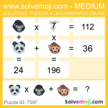 Solvemoji Emoji Grid Puzzles - 50 puzzles - 10 of each level - With Solutions