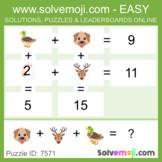 Solvemoji Emoji Grid Puzzles - 50 puzzles - 10 of each lev