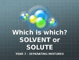 Solvent or Solute TRIVIA!