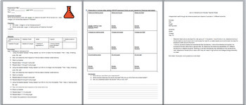 Solvents and Solute Combination Packet, Identifying and Compare/Contrast