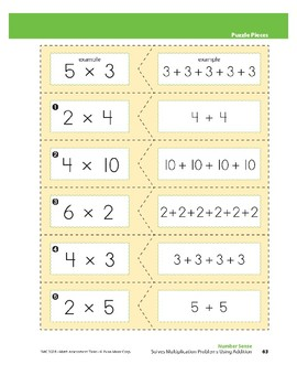 Solves Multiplication Problems Using Addition