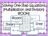 One Step Equations BOOM! (Multiplication and Division Equa