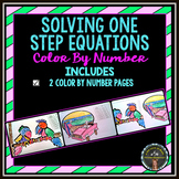 Solving 1-Step Equations: Color By Number Pages (2)
