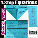 Solving 1-Step Equations Foldable Notes Interactive Notebook
